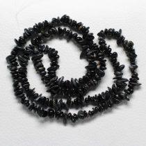 Sólyomszem féldrágakő splitter - gömbölyített szemű - kb. 85cm-es szál