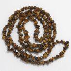 Tigrisszem ásvány splitter / szemcse - gömbölyített szemű - kb. 85cm-es szál