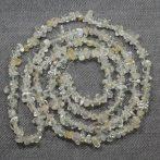 Topáz ásvány splitter / szemcse - gömbölyített szemű - kb. 85cm-es szál