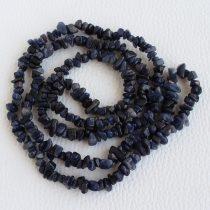 Kék aventurin féldrágakő splitter - kb. 85cm-es szál