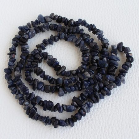 Kék aventurin ásvány splitter - kb. 85cm-es szál