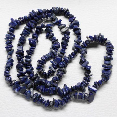 Lápisz lazuli ásvány splitter / szemcse - kb. 85cm-es szál