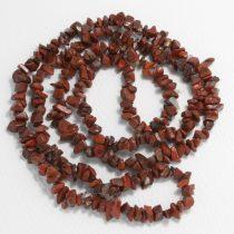 Poppy jáspis féldrágakő splitter - kb. 85cm-es szál
