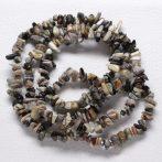 Silver leaf jáspis - ásvány splitter / szemcse - kb. 85cm-es szál