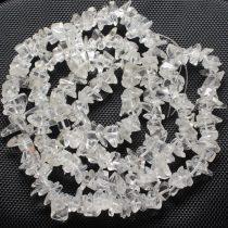 Hegyikristály B féldrágakő splitter - nagyszemű - kb. 85cm-es szál
