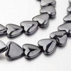Hematit ásványgyöngy - 10mm-es szív - 1db