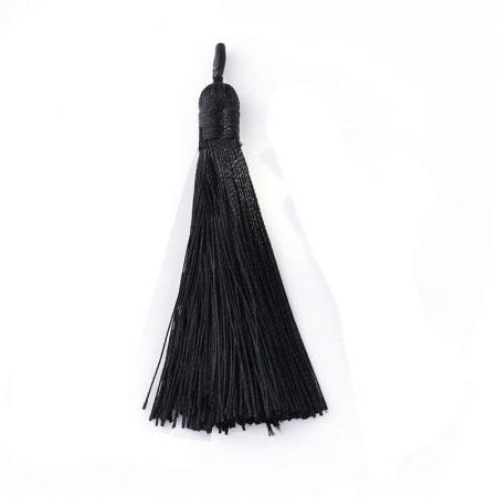 7,5cm-es bojt  - fekete