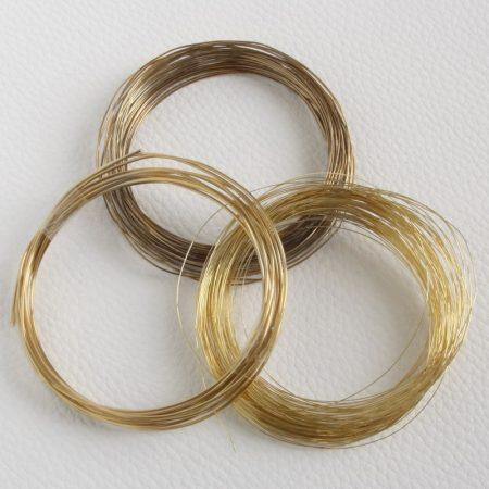 0,5mm vastagságú lágy sárgaréz drót (huzal)  - 16m