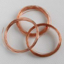 0,6mm vastagságú lágy vörösréz drót (huzal)  - 12m