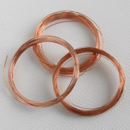 1,2mm vastagságú lágy vörösréz drót (huzal)  - 1,5m
