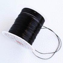 Gumidamil - többszálas, kb. 0,5x0,8mm-es fekete - kb. 9m