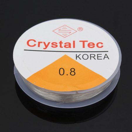 Crystal Tec gumidamil - egyszálas, 0,8mm-es színtelen - 6m