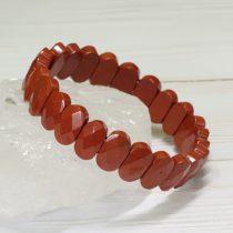Vörösjáspis fazettált ásvány karkötő