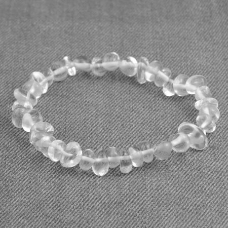 Hegyikristály ásvány splitter / szemcse  karkötő