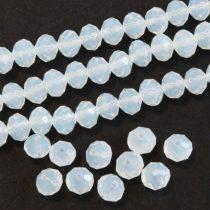 Kristálygyöngy fazettált rondell kb. 3x4mm-es opálos, tejfehér