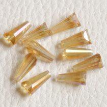 Kristálygyöngy -  fazettált kúpos kb. 12x6mm-es melegsárga AB