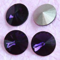 Távolkeleti kristály rivoli 8mm-es - sötétlila (Purple Velvet)