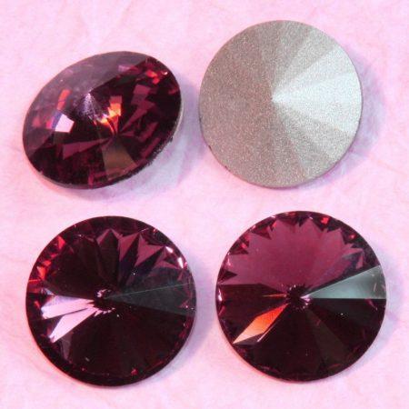 Távolkeleti kristály rivoli 8mm-es - ametisztlila (Amethyst)
