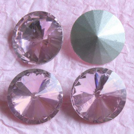 Távolkeleti kristály rivoli 8mm-es - világos rózsaszín (Light Rose)