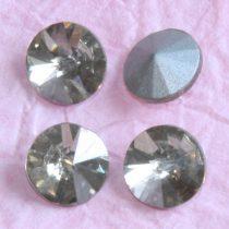 Távolkeleti kristály rivoli 8mm-es - kicsit drappos halványszürke (Silver Shade)