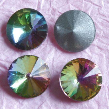 Távolkeleti kristály rivoli 8mm-es - színjátszós (Crystal Vitrail Medium)