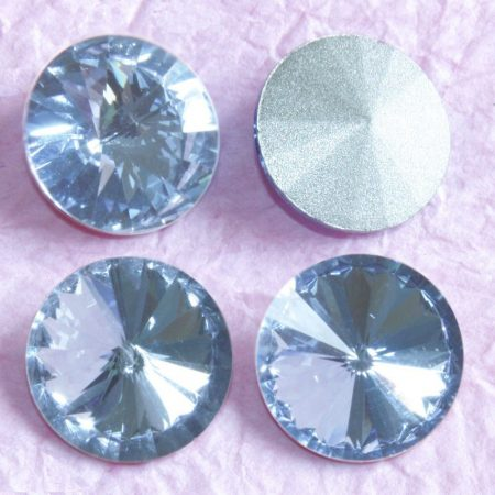 Távolkeleti kristály rivoli 8mm-es - egészen világos kék (Light Sapphire)