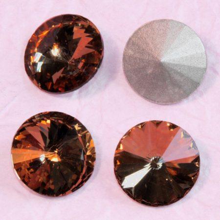 Távolkeleti kristály rivoli 10mm-es -  vörösesbarna (Smoked Topaz)