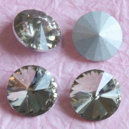 Távolkeleti kristály rivoli 10mm-es - drapp (Greige)