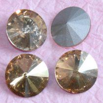 Távolkeleti kristály rivoli 10mm-es - pezsgőszínű (Golden Shadow)