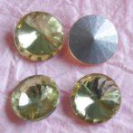 Távolkeleti kristály rivoli 10mm-es - halványsárga (Jonquil)