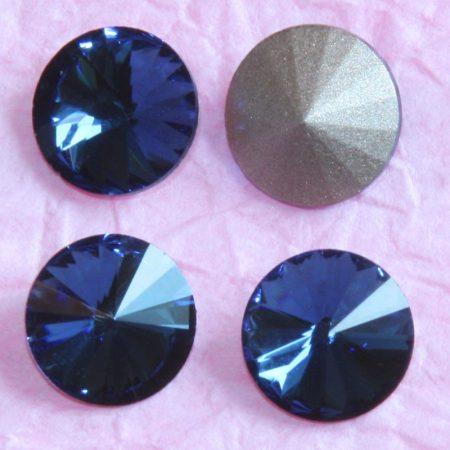 Távolkeleti kristály rivoli 10mm-es - farmerkék (Dark indigo)