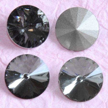 Távolkeleti kristály rivoli 10mm-es - sötétszürke (Black Diamond)