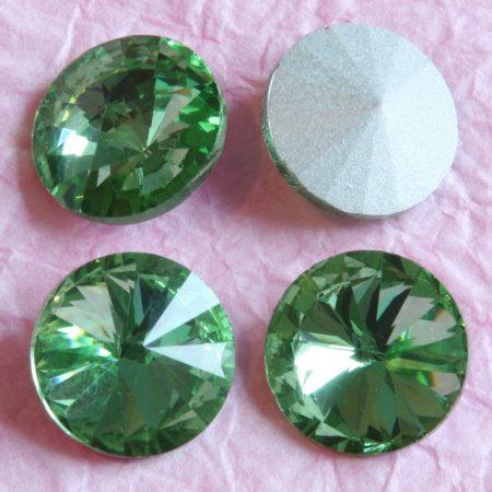 Távolkeleti kristály rivoli 12mm-es - peridotzöld (Peridot)