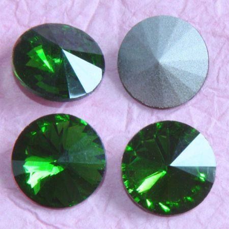 Távolkeleti kristály rivoli 12mm-es - világosabb fenyőzöld (Fern Green)