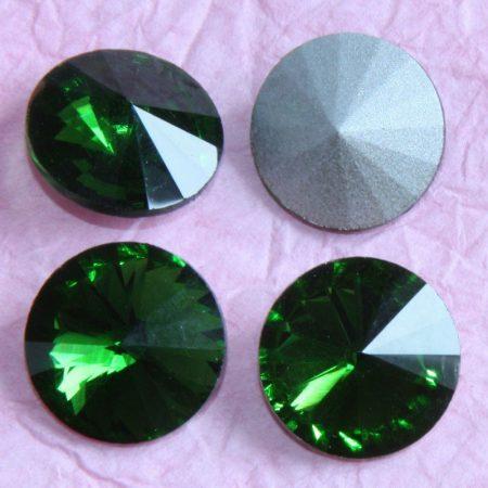 Távolkeleti kristály rivoli 12mm-es - fenyőzöld (Fern Green)