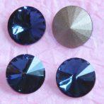Távolkeleti kristály rivoli 12mm-es - farmerkék (Dark indigo)