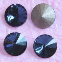 Távolkeleti kristály rivoli 12mm-es - farmerkék (Montana)