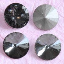Távolkeleti kristály rivoli 12mm-es - sötétszürke (Black Diamond)