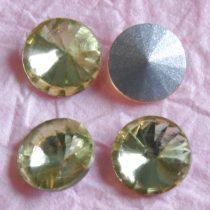 Távolkeleti kristály rivoli 14mm-es - halványsárga (Jonquil)