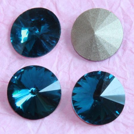 Távolkeleti kristály rivoli 14mm-es - óceánkék (Indicolite)