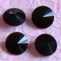 Távolkeleti kristály rivoli 14mm-es - fekete (Jet)