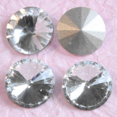 Távolkeleti kristály rivoli 14mm-es - kristály (Crystal)