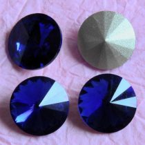 Távolkeleti kristály rivoli 16mm-es - kobaltkék (Cobalt)