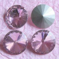 Távolkeleti kristály rivoli 18mm-es - világos rózsaszín (Light Rose)
