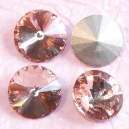 Távolkeleti kristály rivoli 18mm-es - barackrózsaszín (Light Peach-Rose Peach)