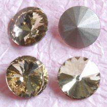 Távolkeleti kristály rivoli 18mm-es - sárgás drapp (Light Smoked Topaz)