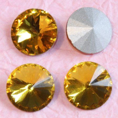 Távolkeleti kristály rivoli 18mm-es - topázsárga (Topaz)