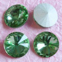 Távolkeleti kristály rivoli 18mm-es - peridotzöld (Peridot)