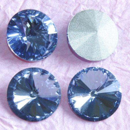 Távolkeleti kristály rivoli 18mm-es - égkék (Medium Sapphire)