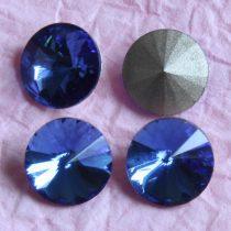 Távolkeleti kristály rivoli 18mm-es - égkék (Sapphire)